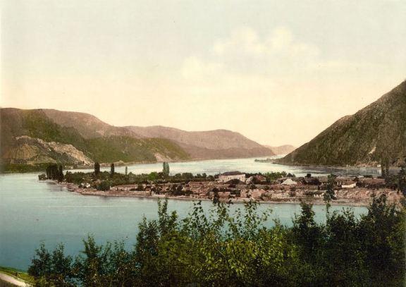 Insula Ada Kaleh în anul 1935 - sursa: Panoramio