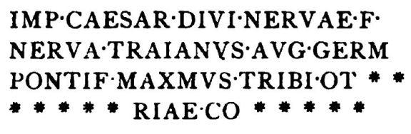 Gravură - Tabula Traiana