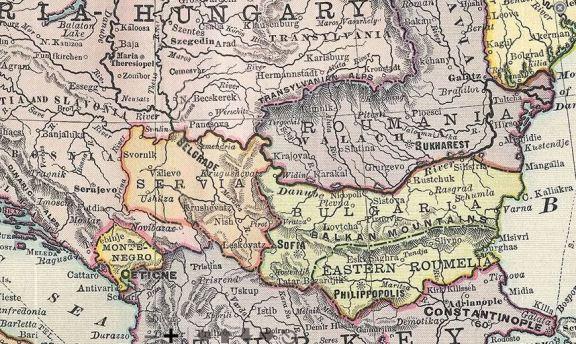 Harta Europei de Est la 1891